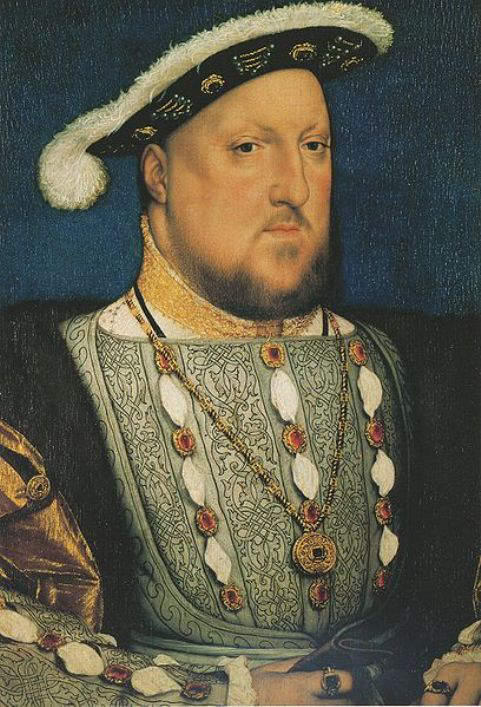 1536-portrait of King Henry VIII by Hans Holbein