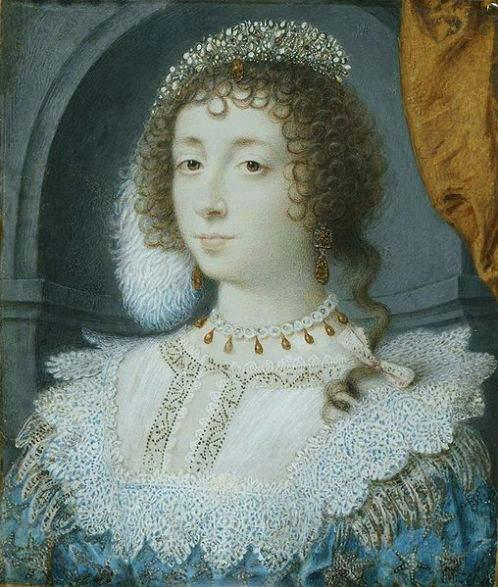Portrait of Henrietta Maria by John Hoskins around 1632