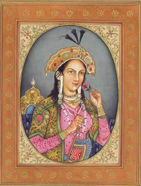 17th century portrait of Mumtaz Mahal by unknown artist