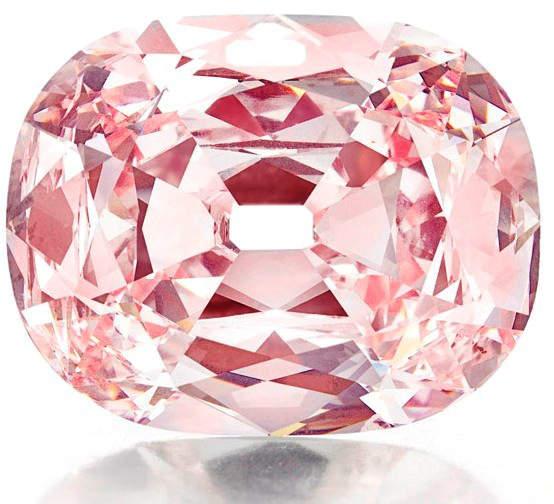 34.65-carat, cushion-cut, fancy intense pink Princie Diamond