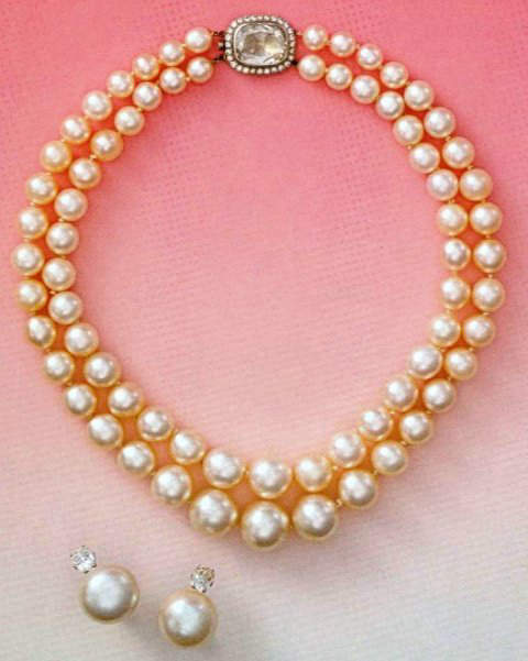 Countess Mona Von Bismarck Two-Strand Pearl Necklace