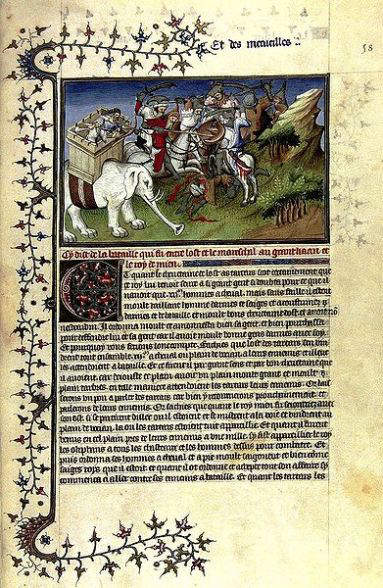 A page from Il Milione, from a manuscript believed to date between 1298–1299