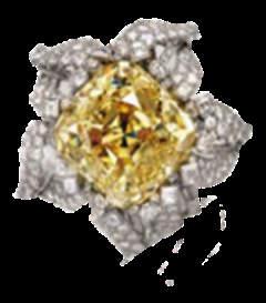The Alnatt diamond in its platinum flower setting