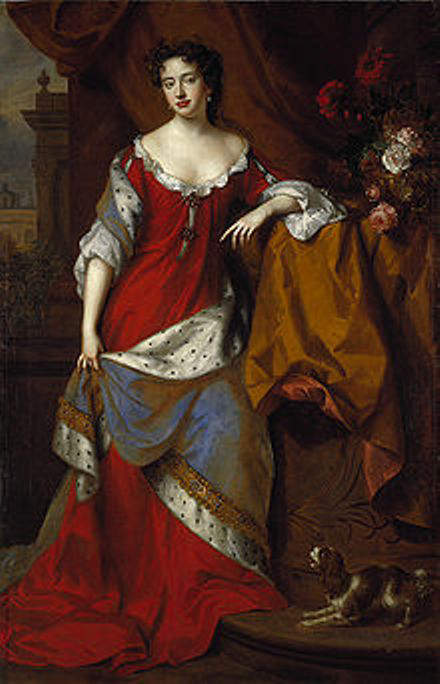 Princess Anne at the time of her marriage in 1683