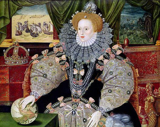 Armada Portrait of Queen Elizabeth I (1558-1603), daughter of Anne Boleyn