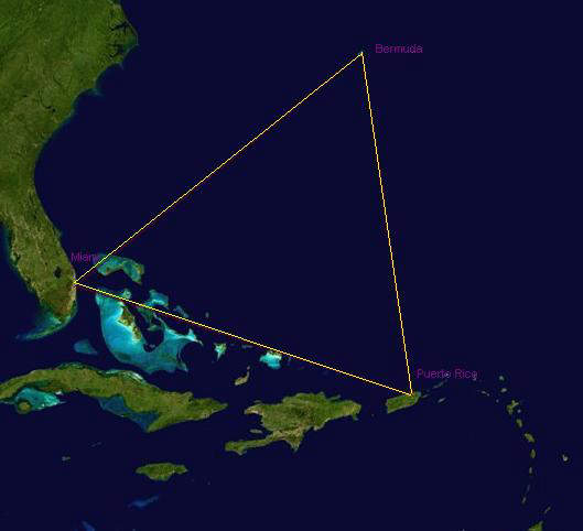NASA Photo of the Bermuda Triangle