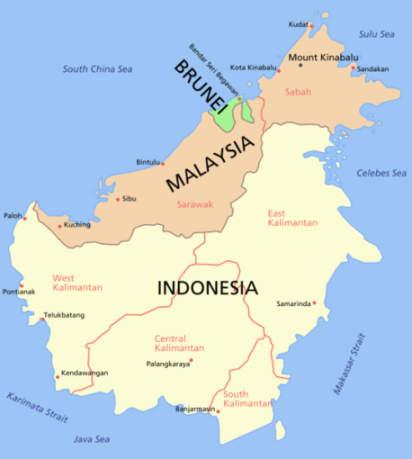 Political Map of Borneo