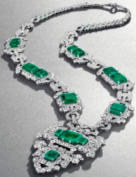 Cartier's Art Deco Emerald and Diamond Sautoir