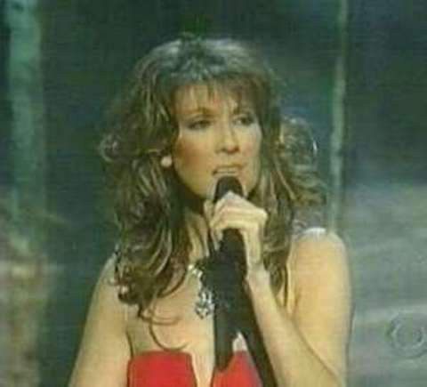 Celine Dion wearing the Archduke Joseph diamond in her televised comeback special on CBS