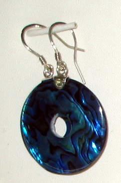 A Circular Cut Abalone Eardrop