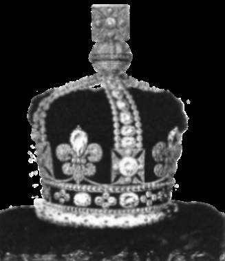 Crown of Queen Adelaide that also incorporated the Arcot diamonds