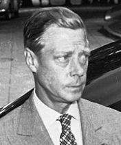 Prince Edward-Duke of Windsor at the White House in 1945, on the day of the surrender of Japan