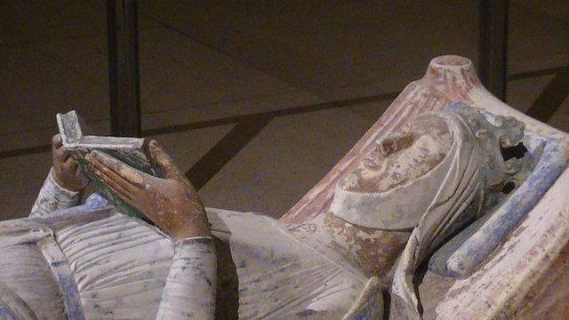 Effigy of Eleanor of Aquitaine in the Church of Fontevraud Abbey, Anjou, France