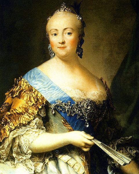Elizabeth of Russia by V. Eriksen in the 18th-century