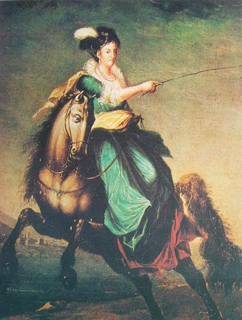 Equestrian portrait of Queen Charlotte of Portugal