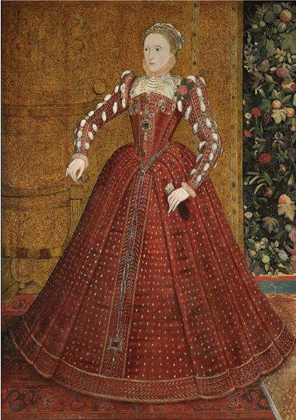 Full length portrait of Elizabeth 1 by Steven van der Meulen around 1563
