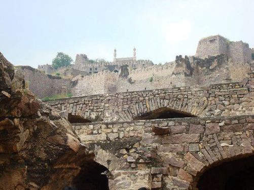 The ruined Fortress of Golconda