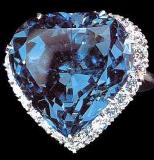 Harry Winston's setting of the blue heart diamond