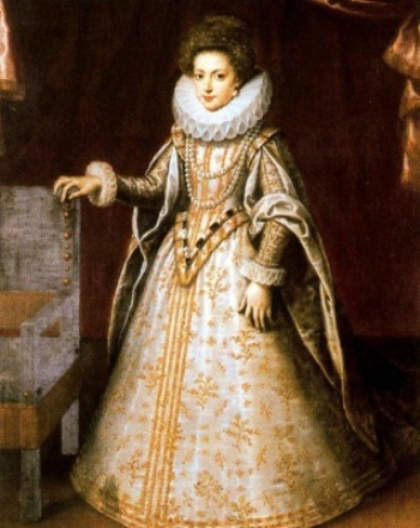 Henrietta Maria as a young princess of France