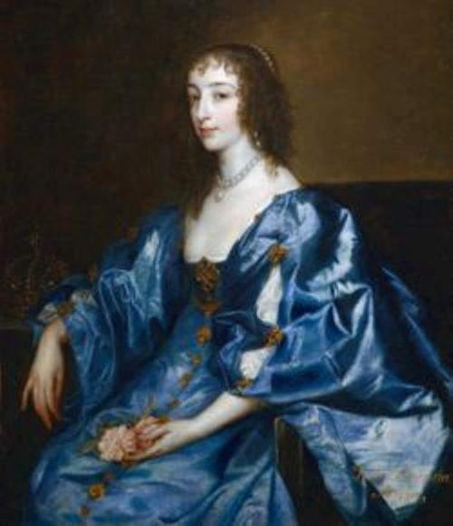 Henrietta Maria by Anthony van Dyck in 1638