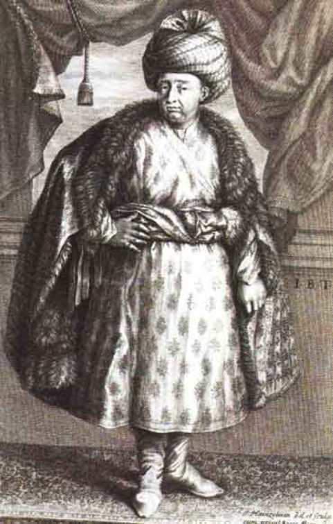 Jean Baptiste Tavernier wearing a Mughal dress