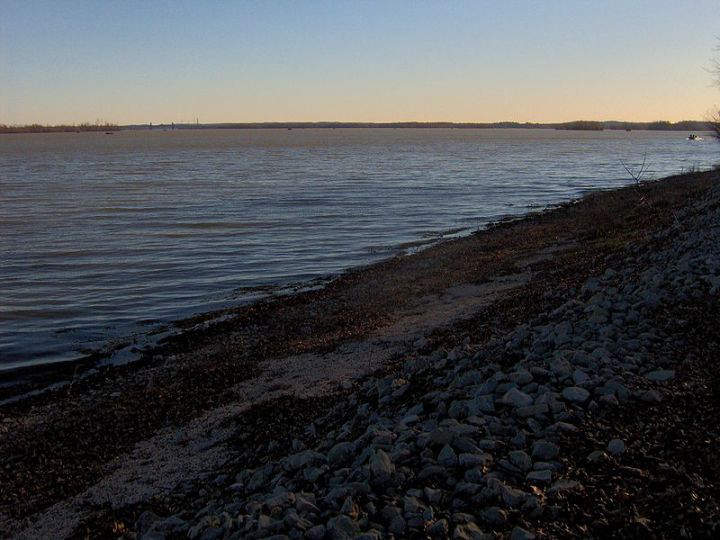 Kentucky Lake formed by impounding Tennessee River