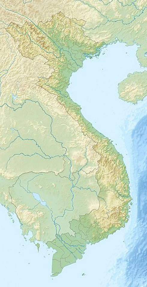 Map of Vietnam showing location of Halong Bay