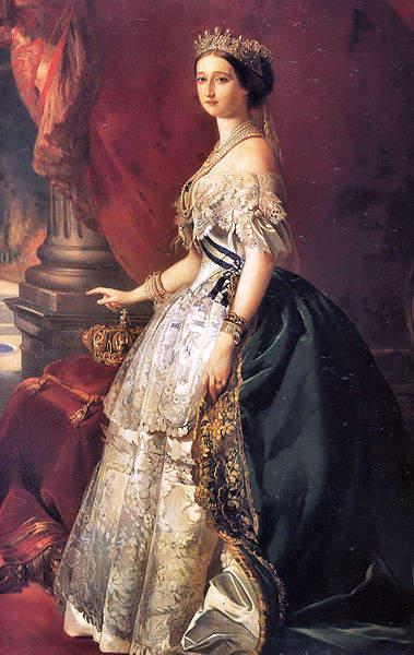Eugénie de Montijo, queen consort of Napoleon III of France.