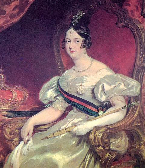 Queen Maria II of Portugal - during her second tenure as Queen regnant of Portugal from 1834 to 1853