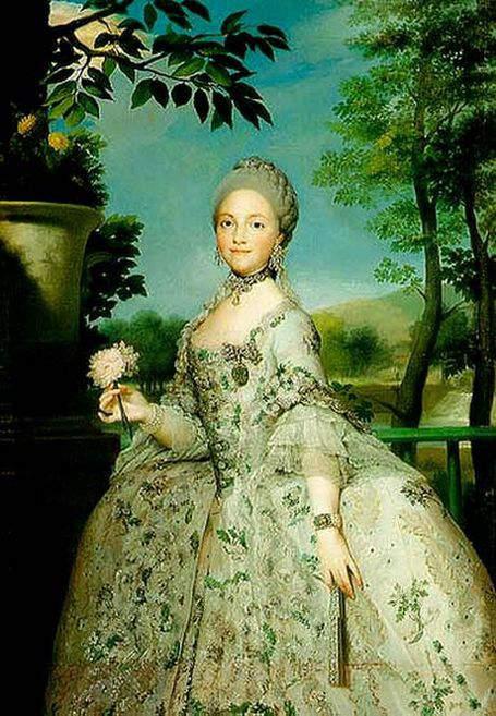 Maria Louisa of Parma in 1765- Princess of Asturias, wife of Charles, Prince of Asturias, future Charles IV, King of Spain