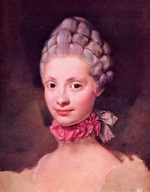 Maria Louisa of Parma in 1765 at the age of 14