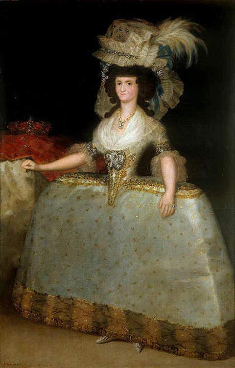 Maria Louisa of Parma, wearing panniers as Queen of Spain in 1789