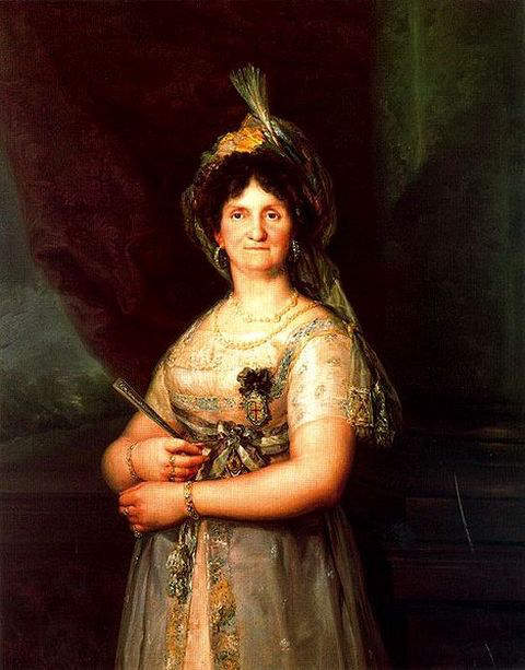 Portrait of Maria Louisa of Parma executed in 1819, based on an original by Goya in 1816