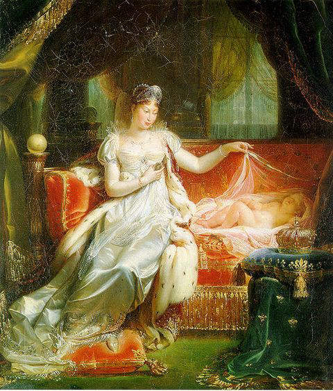 Marie-Louise with her son Napoleon II - unknown arist 1811