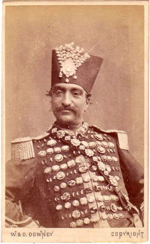 nasser-ed-din-shah-wearing-a-uniform-studded-with-diamonds-from-the-persian-treasury