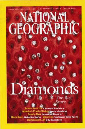 Cover page of the National Geographic Magazine March 2002 issue