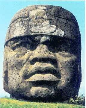Olmec Colossal Head Carving