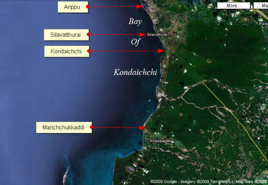 Pearling Stations in the Bay of Kondaichchi