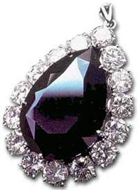 Pendant setting of the Amsterdam black diamond exhibited at D. Drukker & Zn jewelry store in Amsterdam beginning from 1973
