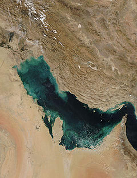 Persian Gulf from outer space