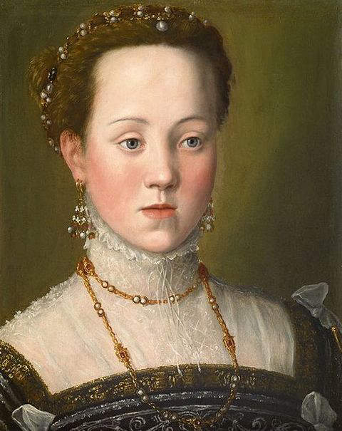 1563-portrait of Anna of Austria by Arcimboldo Giuseppe