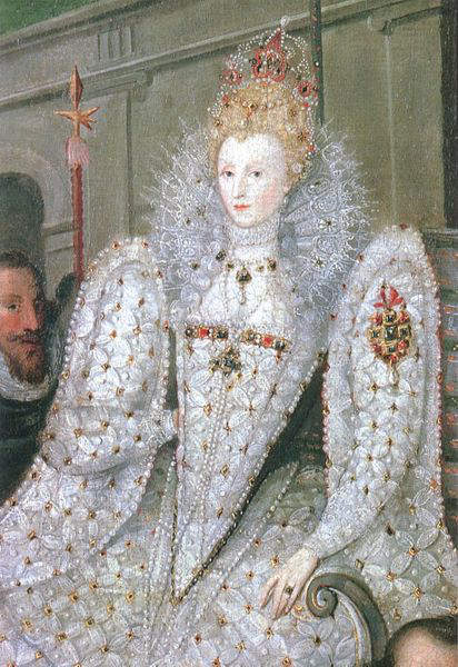 Portrait of Elizabeth 1 being Carried in Procession around 1600