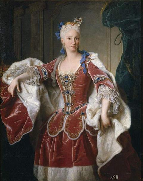 Portrait of Elizabeth Farnese - Queen of Spain by Jean Ranc
