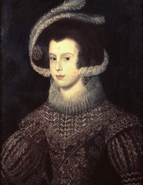Elizabeth, wife and Queen Consort of Philip IV, King of Spain - Portrait by Velazquez in 1625