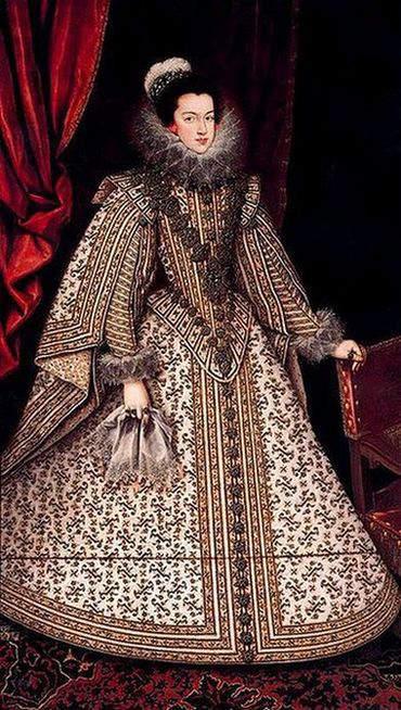 Portrait of Elizabeth of France by Villandrando executed between 1615 and 1622