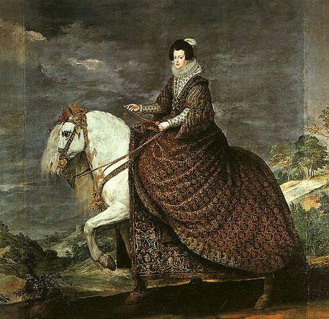 Equestrian portrait of Elizabeth of France by Diego Velazquez in 1632