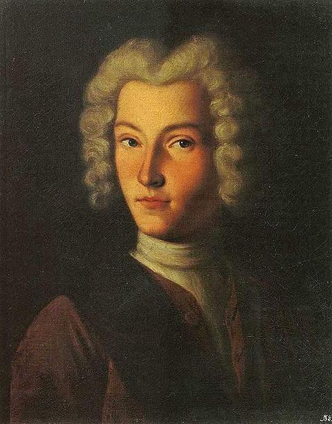 Portrait of Emperor Peter II by Russian painter Molchanov around 1730