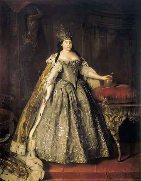 Portrait of Empress Anna Ioannovna by Louis Caravaque in 1730