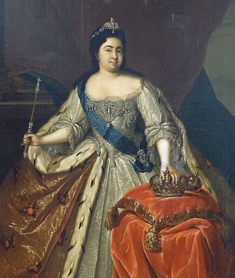 Portrait of Empress Catherine I of Russia by Heinrich Buchholz around 1725