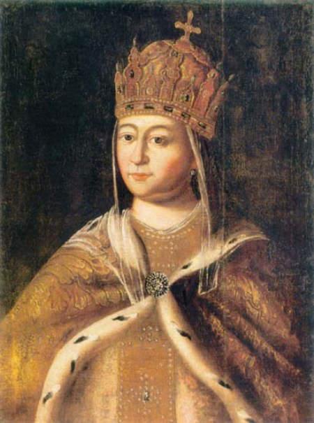 Potrait of Eudoxia Streshneva second wife of Tsar Michael I